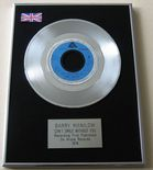 BARRY MANILOW - CAN'T SMILE WITHOUT YOU Platinum single presentation DISC